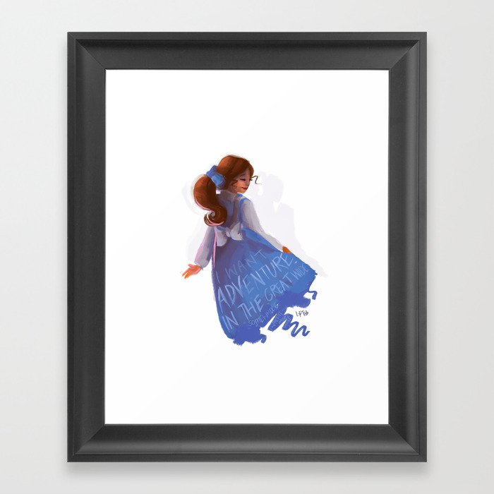Belle Beauty And The Beast I Want Adventure Framed Art Print By