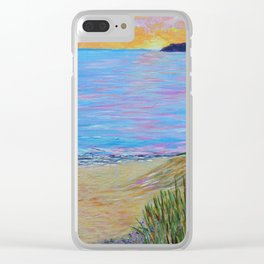 Lake Michigan, landscape painting Clear iPhone Case
