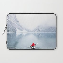 Kayaking Across A Canadian Lake Laptop Sleeve