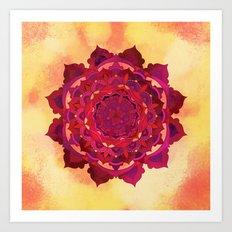 Hot Autumn Mandala Design Art Print
