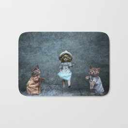Cats Playing Jump Rope Bath Mat