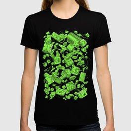 Vintage Gamer Green T-shirt