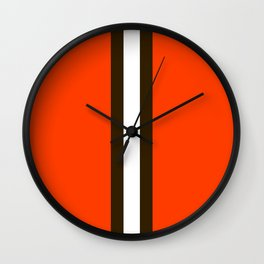 Cleveland Team Colors Wall Clock