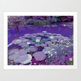 Purple Lake Dreaming Art Print