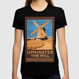 Upminster the Mill Vintage Travel Poster T-shirt