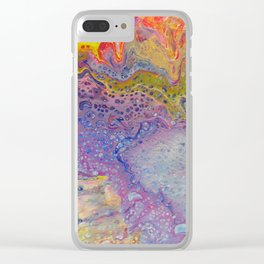 Acrylic Pour III Clear iPhone Case