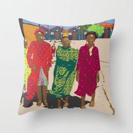 African women in township Throw Pillow