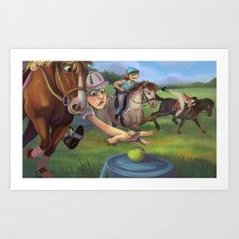 Mounted Games Art Print