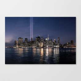 Tribute in Light. New York City, 4 Canvas Print