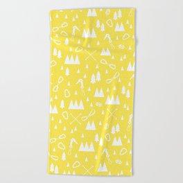 Yellow Jan Beach Towel
