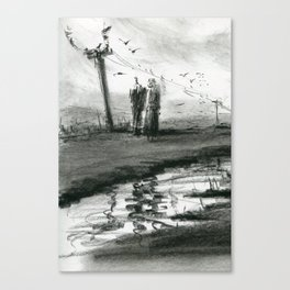 Ink and Carbon Pencil Canvas Print