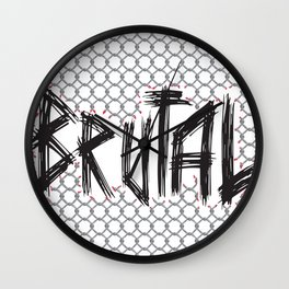 Brutal Fence Wall Clock