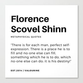 52   | Florence Scovel Shinn Quotes | 200126 Canvas Print