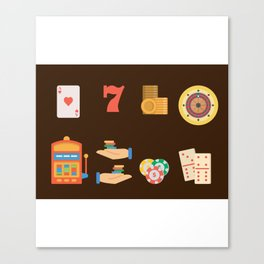 Roulette, Slots, Chips & Cards - Nevada Day Canvas Print