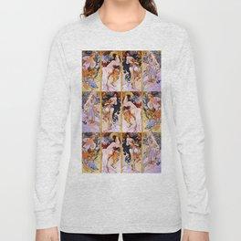 "Alphonse Mucha ""The Seasons (series)"" (1897) Long Sleeve T-shirt"