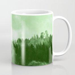 Clear away the fog to see the light. Green Coffee Mug