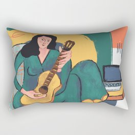 In The Mood For Music Rectangular Pillow