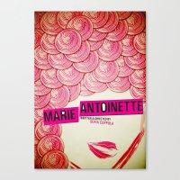marie antoinette Canvas Prints featuring Marie Antoinette by Linda Hordijk
