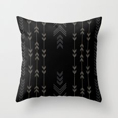 Headlands Arrows Black Throw Pillow