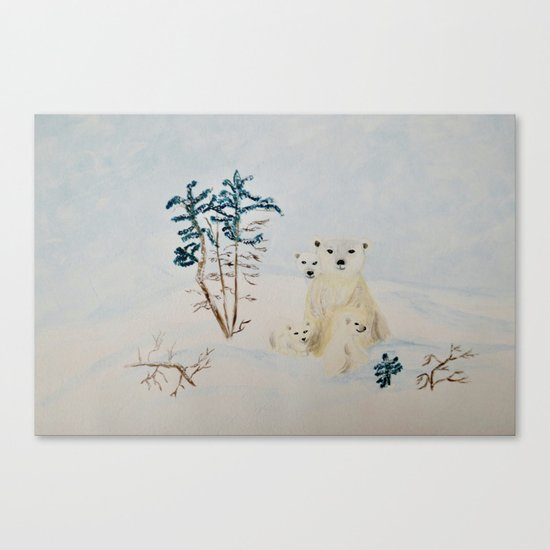 Polar Tenderness Canvas Print