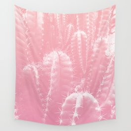 Pastel cactus love Wall Tapestry