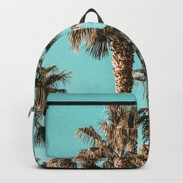 {1 of 2} Classy Palm Leaf Sky // Summer Teal Palmtree Art Print Backpack