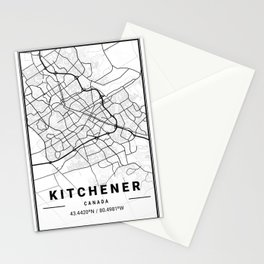 Kitchener Light City Map Stationery Cards