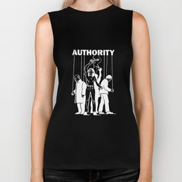 Cut the Strings of Authority Anti Illuminati Occult New World Order Agenda Activist Truther Conspira Biker Tank