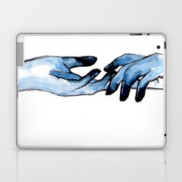 Acrylic hand study in blue Laptop & iPad Skin