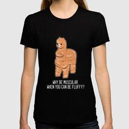 Alpaca Fluffy Cute Fluffy Person Gift T-shirt