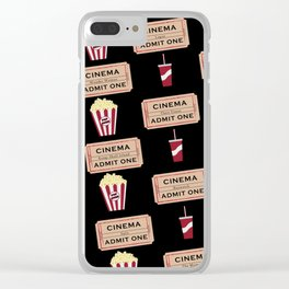 Let's Go to the Movie theatre Clear iPhone Case