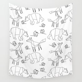 Geometric Animals Pattern Wall Tapestry