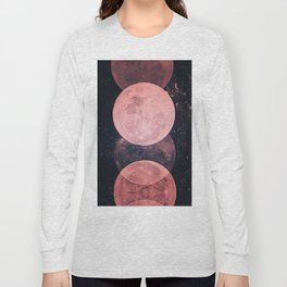Pink Moon Phases Long Sleeve T-shirt