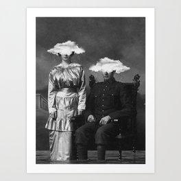 Stormy Couple Art Print
