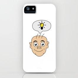 Problem Solving or Brainstorming Tshirt Design Bright idea iPhone Case