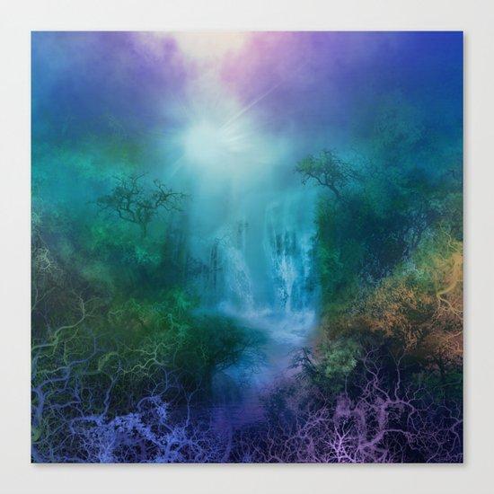 purple forest landscape Canvas Print