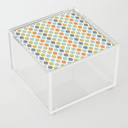 Retro Circles Mid Century Modern Background Acrylic Box