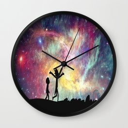 I bet you could sometimes find all the mysteries of the universe in someone's hand Wall Clock