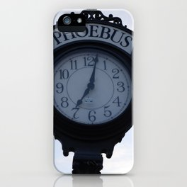 Einstein's clock is exactly one minute... iPhone Case