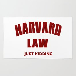 Harvard Law Just Kidding Rug
