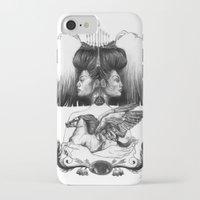 gemini iPhone & iPod Cases featuring Gemini by Deborah Panesar Illustration