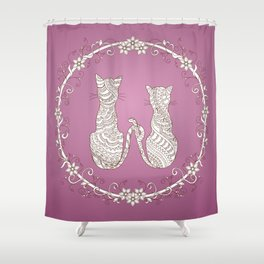 lovely cats Shower Curtain