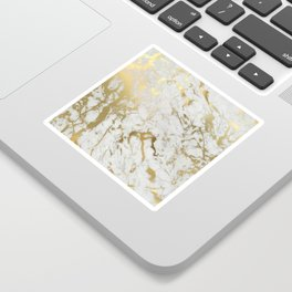 Gold marble Sticker