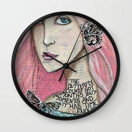 Time Enough Mixed Media Wall Clock