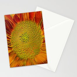 The flower of sun   (This Artwork is a collaboration with the talented artist Agostino Lo coco) Stationery Cards