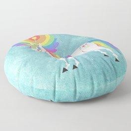 Rainbow Petal Unicorn Floor Pillow