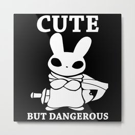 Cute but Deadly Metal Print