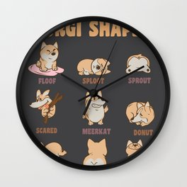 Corgi Forms Hey Corgeous dogs owner gift Wall Clock