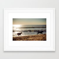 dogs Framed Art Prints featuring Dogs by Sébastien BOUVIER