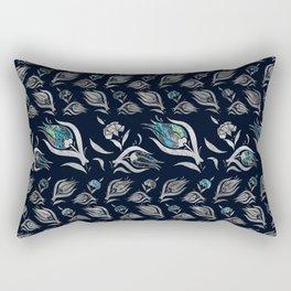 Turkish tulip - Ottoman tile pattern 5 Rectangular Pillow
